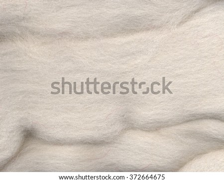 Close up of sheep wool texture. White wool background - stock photo