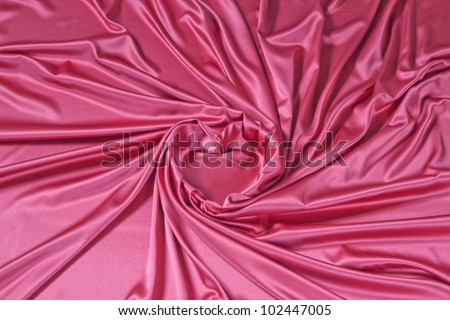 close up of  silk textured cloth background - stock photo