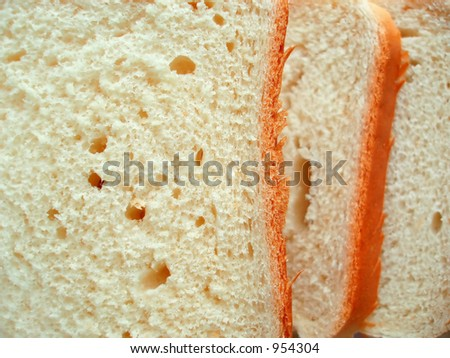 Close-up of slices of sandwich toast bread ready for use