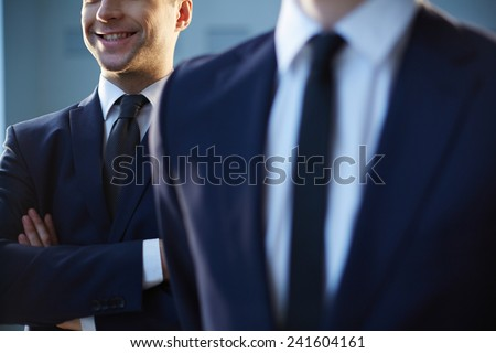 Close-up of smiling man in formalwear - stock photo