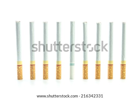 close up of smoking cigarettes