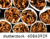 Close up of smoking cigarettes as anti smoking concept - stock photo