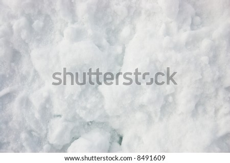 close-up of Snow off the side of the road thrown by snowplow - see more in portfolio - stock photo