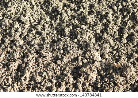 close up of soil background