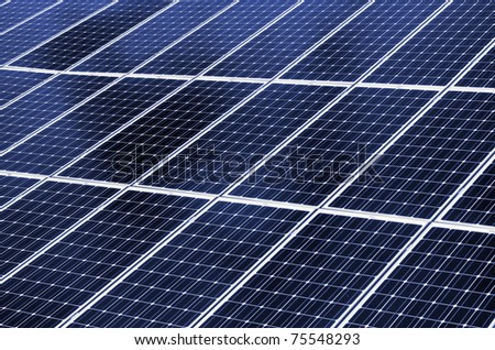 Close up of solar energy panel. - stock photo