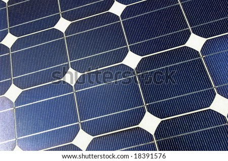Close up of solar power plate.