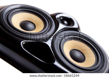 Close up of speaker - stock photo