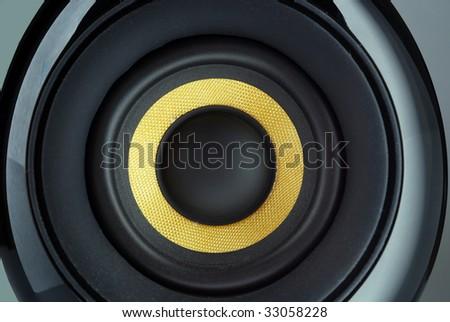 Close-up of speaker membrane - stock photo