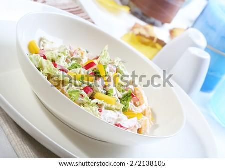 Close up of spring salad - stock photo