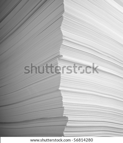 close up of stack of papers - stock photo