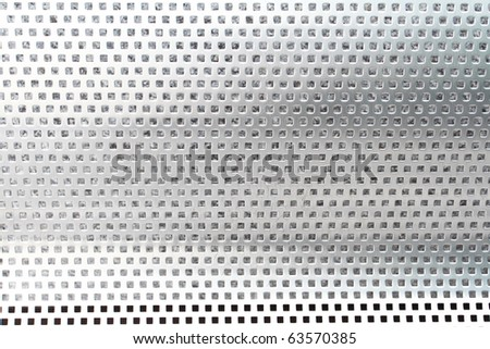 Close up of stainless chair pattern - stock photo