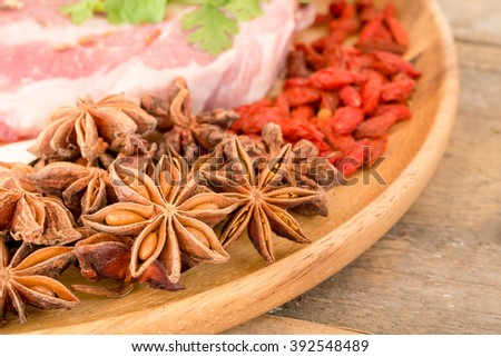 Close up of Star anise - stock photo
