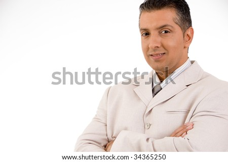 Close-up of successful businessperson - stock photo