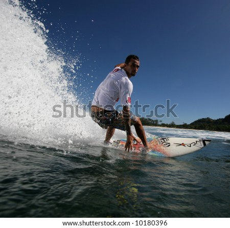 close up of surfer - stock photo