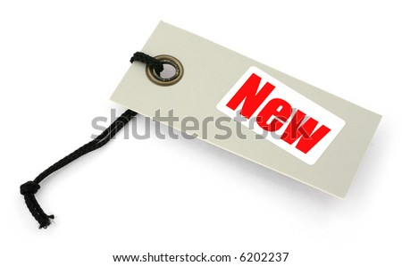 close-up of tag against white background - stock photo