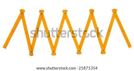 close up of tape measure on white background with clipping path - stock photo