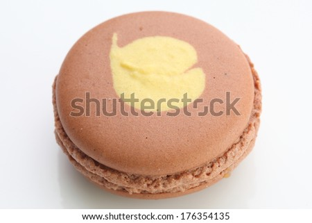 Close up of Tasty brown macaroon