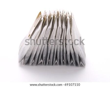 Close-up of tea bags - stock photo