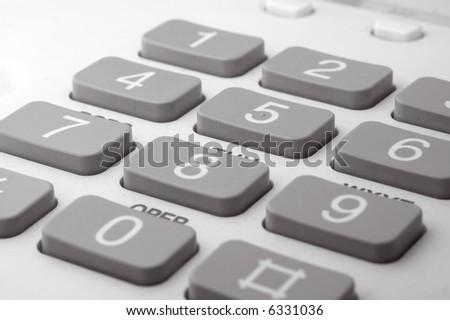 close up of telephone keyboard - stock photo