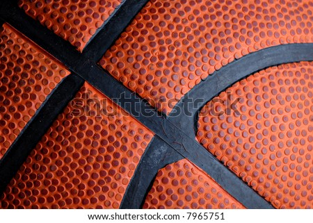 Close-up of texture on a basketball - stock photo