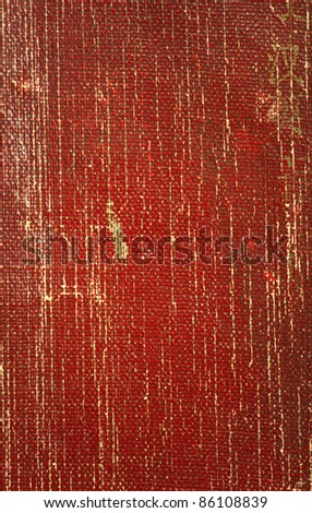 Close up of textured red book cover