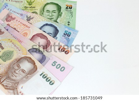 Close up of Thai money , Thailand