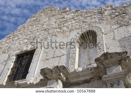 Close-up of the Alamo in San Antonio Texas. - stock photo