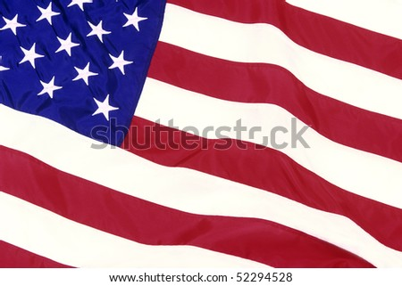 Close up of the American flag - stock photo