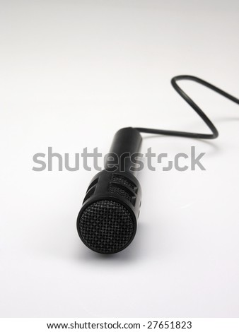 close up of the black color microphone