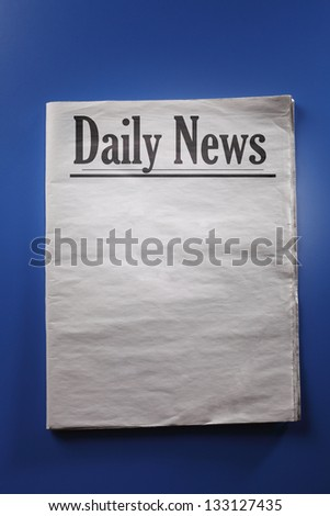 Close up of the Blank Newspaper