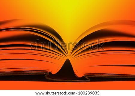close-up of the blue book. - stock photo