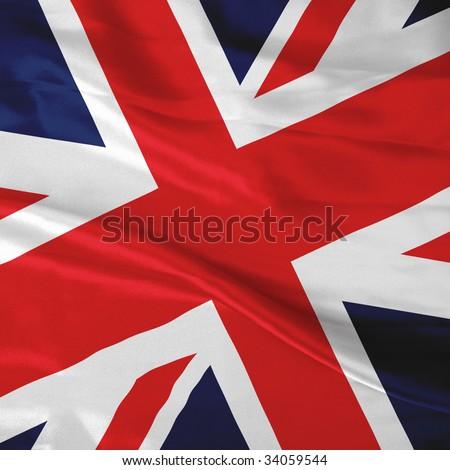 Close up of the British flag - stock photo