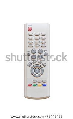 Close-up of the central part of a  remote control. - stock photo