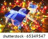 Close-up of the Christmas gifts - stock photo