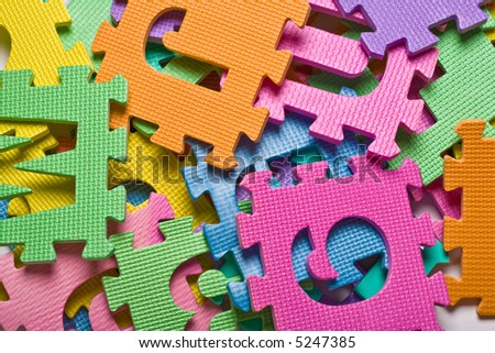Close up of the color Letters background - stock photo