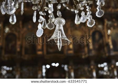 Closeup crystal chandelier vrdnik ravanica monastery stock photo close up of the crystal chandelier from the vrdnik ravanica monastery aloadofball Gallery