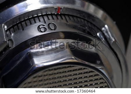 Close up of the dial on a safe - stock photo