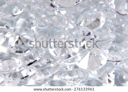 close up of the diamonds background - stock photo