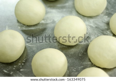 Close Up of the dough. selective focus, soft focus and shallow depth of fields - DOF - stock photo