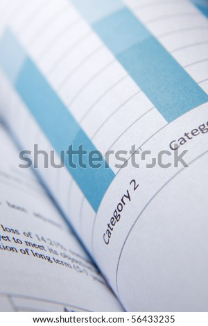 close up of the finance report - stock photo