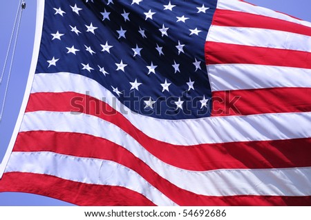 Close up of the Flag of the United States