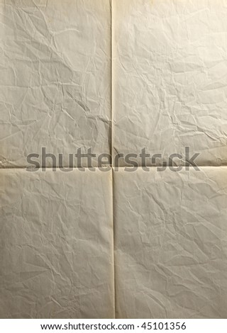 close up of the folded paper - stock photo