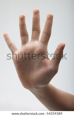 close up of the hand gesture -stop