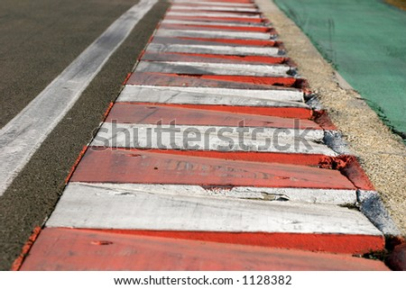 Close-up of the Hungarian racing track. - stock photo