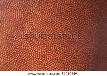 Close up of the leather texture of a football