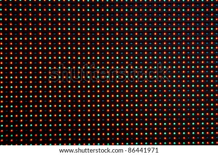 Close-up of the Matrix of a Screen made of multiple LEDs.... - stock photo