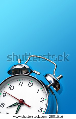 close up of the oldfashioned alarm clock
