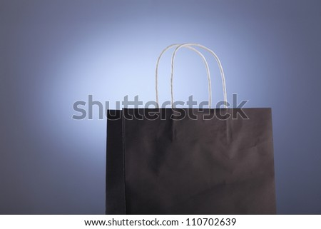 close up of the paper shopping bag