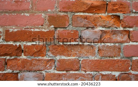 Close-up of the red brick wall (background)