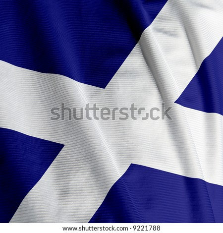 Close up of the Scottish flag, square image
